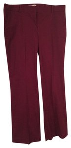 J.Crew Red Holiday Office Trouser Boot Cut Pants Cranberry