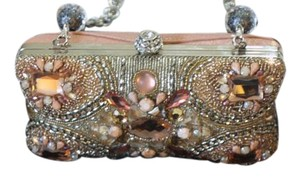 Mary Frances Vintage Beaded Peach and other light colors Clutch