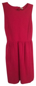 J.Crew short dress Pink Knit Easy Care on Tradesy