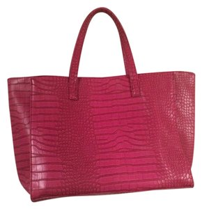 Other Faux Laptop Crocodile Tote in Pink