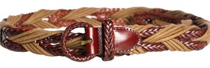 Angie Angie Brown & Green/Taupe Braided Belt