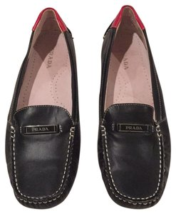 Prada Black w/ Red Flats