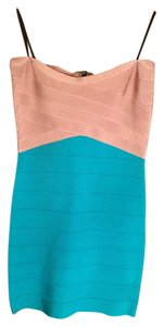 bebe Bandage Sexy Color-block Dress