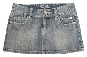 Guess Denim Micro-mini Mini Skirt