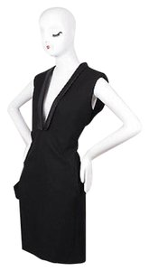 Lanvin Wool Silk Sleeveless Deep Dress