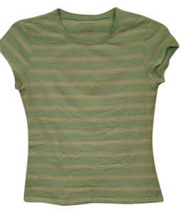 No Boundaries Striped Fitted T Shirt Seagreen