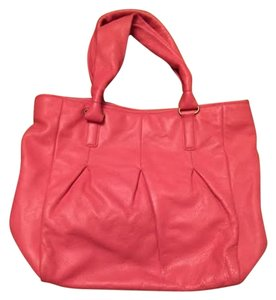Cole Haan Leather Tote in Coral