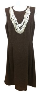 Oscar de la Renta short dress Brown Wool on Tradesy