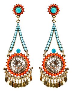 Orange & Blue Earrings