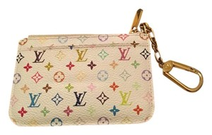 Louis Vuitton RARE!! Multicolor Key Pouch With Blue Interior