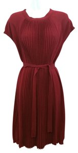 Saint Laurent short dress Ysl Burgundy Knit Wool on Tradesy