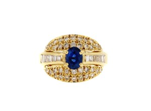 Other STUNNING - 18K Gold, Sapphire & diamond ring
