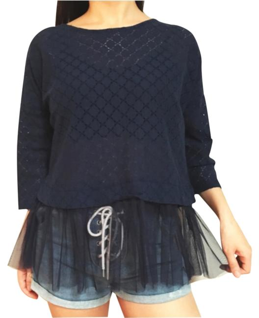 Preload https://item4.tradesy.com/images/navy-gauze-baby-doll-34-sleeve-blouse-size-4-s-2016523-0-1.jpg?width=400&height=650