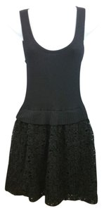 Moschino short dress Black Knit on Tradesy