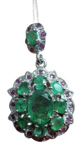 Other *SALE*7.31CT NATURAL COLOMBIAN EMERALD RUBY PENDANT