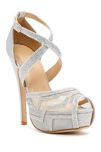 Chase & Chloe Misty Mesh Embelished Prom Or Bridal Wedding Shoes