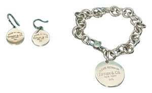 Tiffany & Co. Tiffany & Co Circle Dangling Earrings W matching Bracelet Set