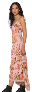 Pink Floral 2 Piece Slip Dress Maxi Dress by Betsey Johnson