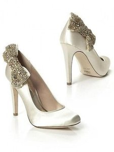 A.B.S. By Allen Schwartz Sabrena Bow Embelished Wedding Shoes
