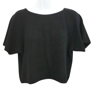 Zoran Black Knit Silk Top