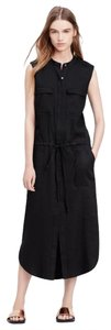 Black Maxi Dress by Vince Linen Midi Chic Maxi