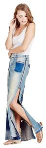 True Religion Maxi Skirt Indigo hazed destroyed