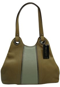 Tignanello Color Leather Silver Hardware Large /Tote Style Satchel in Honey and Bone