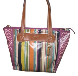 Fossil Tote in multi color