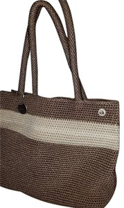 The Sak Tote in Brown and creme