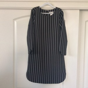 H&M short dress Black with white stripes on Tradesy