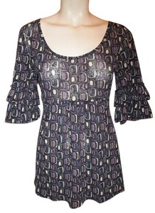 Karen Kane Ruffled Mesh Tunic