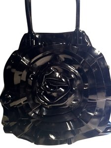 RED Valentino Patent Leather Tote in Black