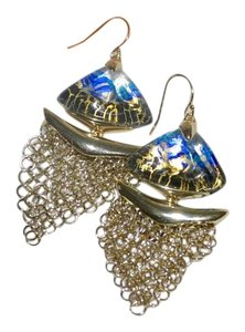Alexis Bittar ALEXIS BITTAR Mesh Dangler Earrings INDIGO BLUE