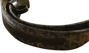 Goyard Ultra Rare Goyard Black Belt 90