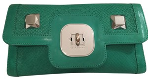 Longchamp Green Clutch