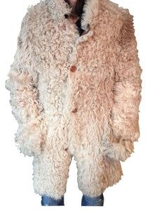 Dominic Bellissimo Leather Shearling Warm Reversible Beige/Cream Leather Jacket