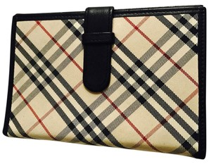 Burberry Authentic Burberry Classic Check Canvas & Leather 6 Ring Agenda
