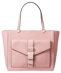 Kate Spade Leather Pink Gold Janise Tote in Rose Jade