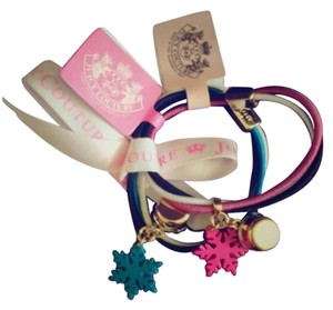 Juicy Couture Juicy Couture Set of 3 Charm Elastic Accessories