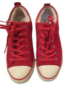 UGG Australia Red suede/shearling lined Flats