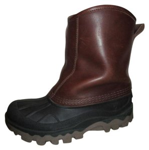 L.L.Bean Rubber Leather brown & black Boots