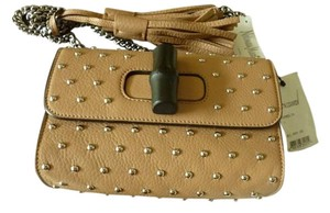 Gucci Leather Italian Studded Classic Shoulder Bag