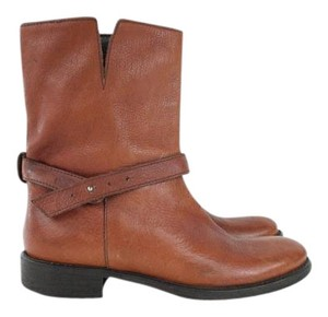 Madewell Peacan Brown Leather Biker Boots