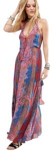 Maxi Dress by Free People Halter Maxi Print Tassle