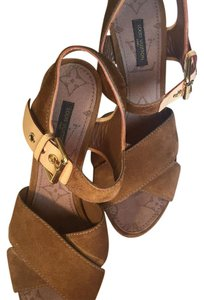 Louis Vuitton Lv Sandal Brown Wedges
