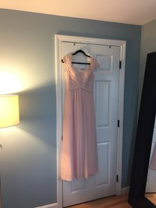 Bill Levkoff Blush Cap Sleeve Sweetheart Neck Dress