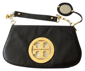 Tory Burch Black and gold Clutch