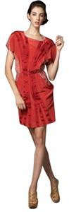 Sachin + Babi Silk Pattern Red Handcrafted Dress