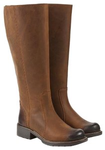 Clarks Knee High Oiled Leather Comfortable Classic Brown Boots