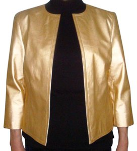 Ellen Tracy gold Leather Jacket